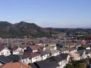 多峰主山中腹から見た武蔵台